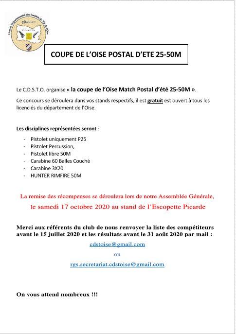 Coupe de l'Oise Match postal d'été 25-50M
