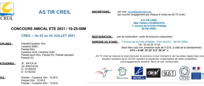 CONCOURS AMICAL 2021